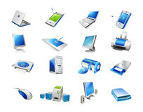 Computer set Royalty Free Stock Image