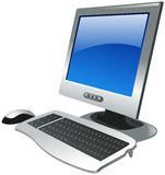 Computer set with monitor, mouse and keyboard