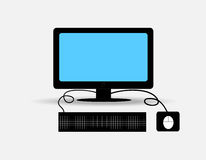 Computer. The computer set vector on gray background Stock Image