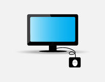 Computer. The computer set vector on gray background Stock Photography
