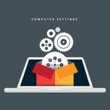 Computer Settings Gears Royalty Free Stock Images