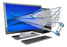 Computer shopping concept Royalty Free Stock Photos
