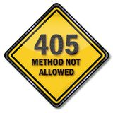 Computer sign 405 method not allowed. Computer sign 405 method is not allowed Royalty Free Stock Photography