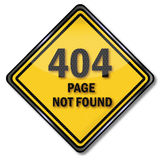 Computer sign 404  page not found. And network Stock Photography