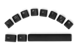 COMPUTER sign written on a keyboard Royalty Free Stock Photo