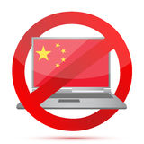 Computer situation in China. Illustration design graphic Royalty Free Stock Images