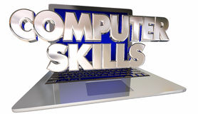 Computer Skills Computer Laptop Learning Knowledge Royalty Free Stock Images