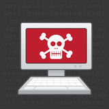 Computer Skull Stock Image