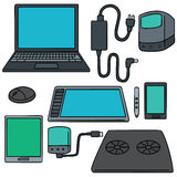Computer, smart device and computer accessories Stock Photos