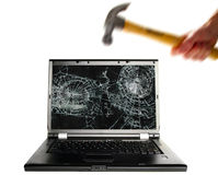 Computer smash Royalty Free Stock Photo