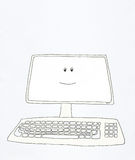 Computer smiles stock illustration