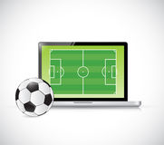 Computer soccer concept illustration design Royalty Free Stock Photos