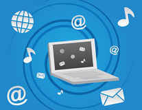 Computer Social Media Icons Stock Photos