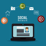 Computer social network profile person online Royalty Free Stock Image