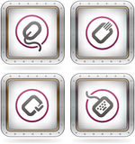 Computer Software and Hardware Icons Stock Images