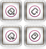 Computer Software and Hardware Icons Stock Photos