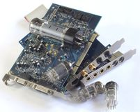 Computer sound cards Royalty Free Stock Image