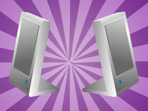 Computer speakers illustration Royalty Free Stock Photo