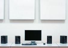 Computer, Speakers & Monitor Stock Photos
