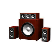 Computer speakers on a white background royalty free stock photos
