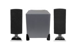 Computer speakers with woofer Royalty Free Stock Photos