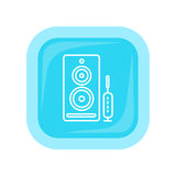 Computer-Sprecher-Netz-Knopf PC Lautsprecher Lizenzfreie Stockfotos