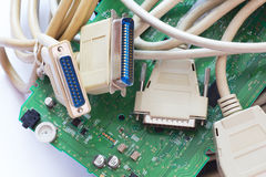 Computer-Stecker Stockfoto