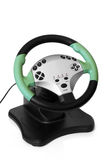 Computer steering wheel Royalty Free Stock Image