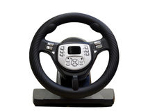 Computer steering wheel Royalty Free Stock Photography