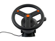 Computer steering wheel Royalty Free Stock Images