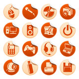Computer stickers Stock Images