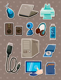 Computer stickers Stock Image