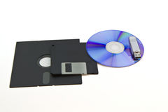 Computer storage disks Royalty Free Stock Image