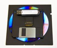 Computer storage disks Stock Photos