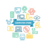Computer Store Concept. Vector Royalty Free Stock Photography