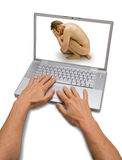Computer Stress Bully Bullying  Royalty Free Stock Photos