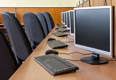 Computer study lab Royalty Free Stock Images