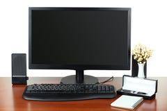 Computer sul desktop Immagine Stock Libera da Diritti