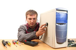 Computer support engineer Stock Photo