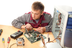 Computer support engineer Stock Images