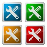 Computer support icons. A set of four computer support or help desk icons Stock Images