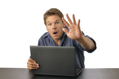 Computer surprise Royalty Free Stock Image