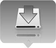 Computer symbol - hardware. 3d hardware icon - computer generated clip-art Royalty Free Stock Image