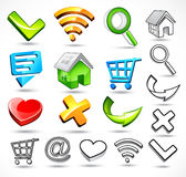 Computer symbols and icons Royalty Free Stock Images