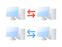 Computer synchronization icons Stock Photography
