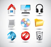 Computer system icons Royalty Free Stock Image