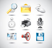 Computer system icons Stock Image
