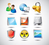 Computer system icons Stock Photo