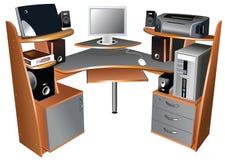 Computer table Stock Photos