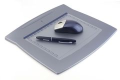 Computer tablet. For hand drawing Royalty Free Stock Images